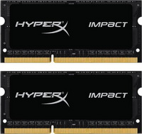 Kingston - Memória Notebook - Kingston HyperX Impact 16Gb/1866MHz CL11 K2 2x8GB DDR3 SO-DIMM memória