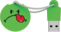 EMTEC - Pendrive - EMTEC SW105 Smiley Green 8GB USB2.0 pendrive