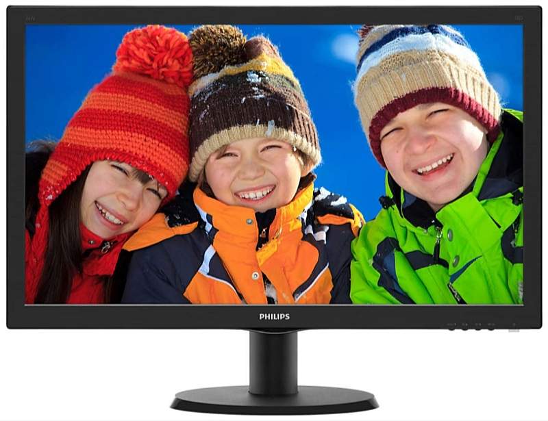 Philips - Monitor LCD TFT - Philips 23,8' 240V5QDAB/00 LED IPS FHD monitor, fekete