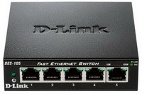 D-Link - Hálózat Switch, FireWall - D-Link DES-105/E 5p 10/100Mbit switch