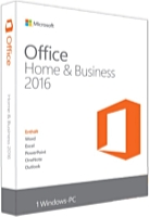 Microsoft - Microsoft - Microsoft Office 2016 Home and Business ENG 1User