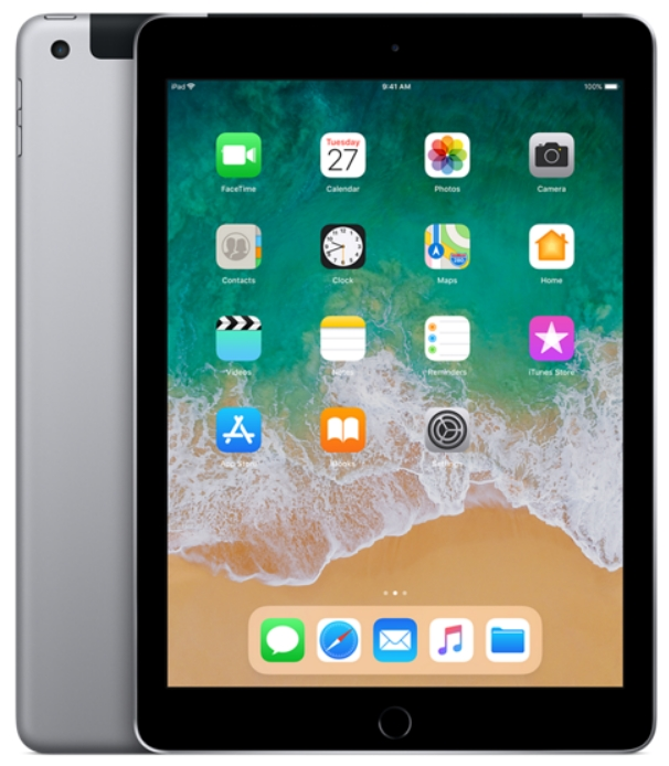 Apple - Tablet-ek - Apple iPad 9,7' 128Gb (2018) Cellular, asztroszürke