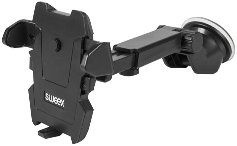 88673d182233 Sweex SWUSPM200BK univerzális autós telefon tartó. Univerzális telefon /  táblagép / GPS ...